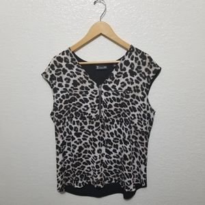 New York & Company Leopard printed top